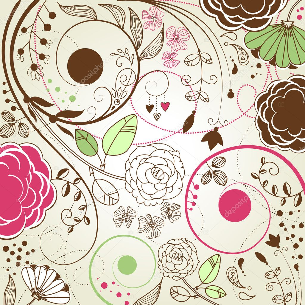 Retro floral background — Stock Photo #7551835