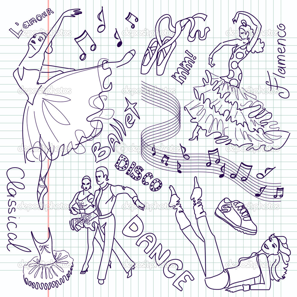 Dance doodles  Stock Photo #7552150