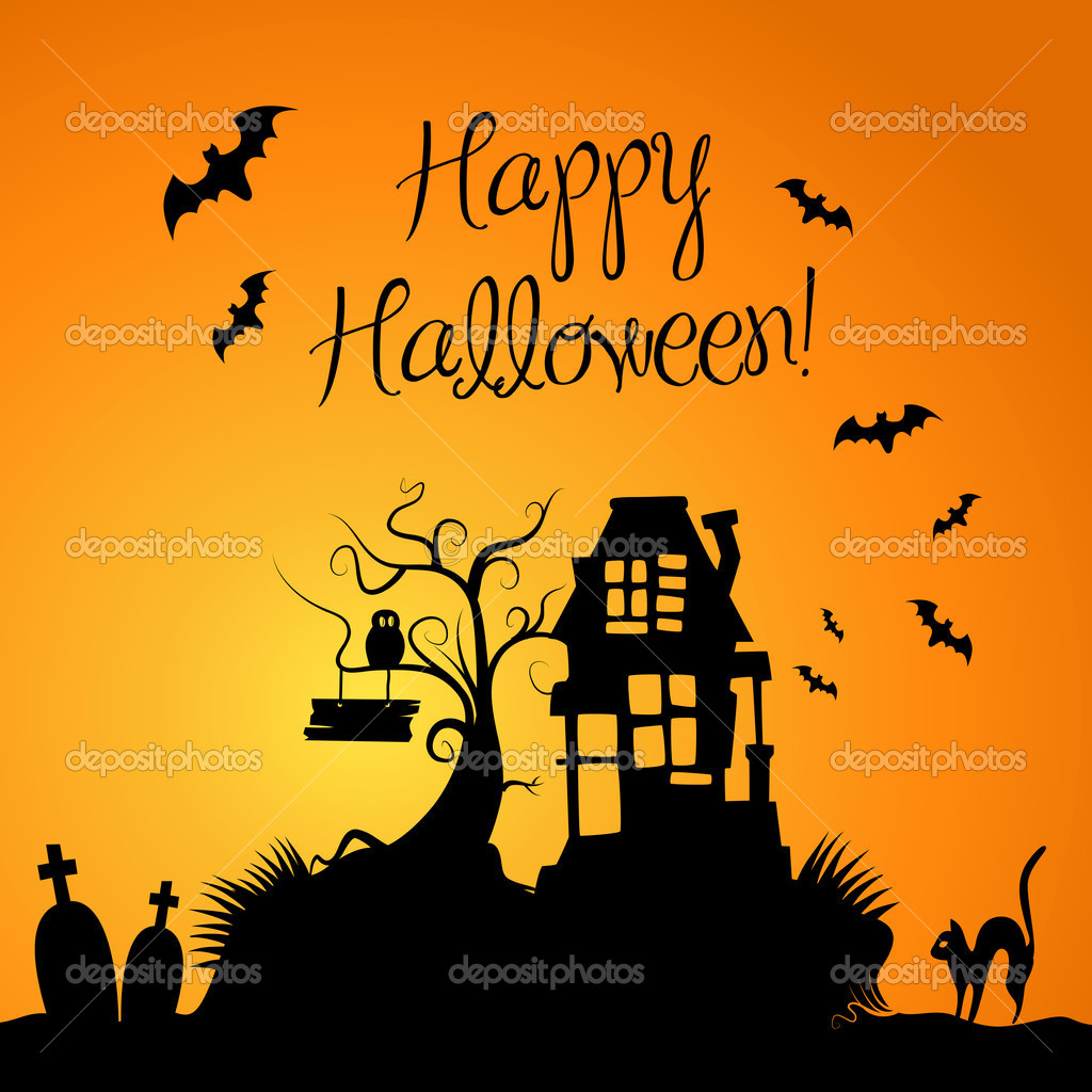 Halloween Background  Stock Photo #7552675
