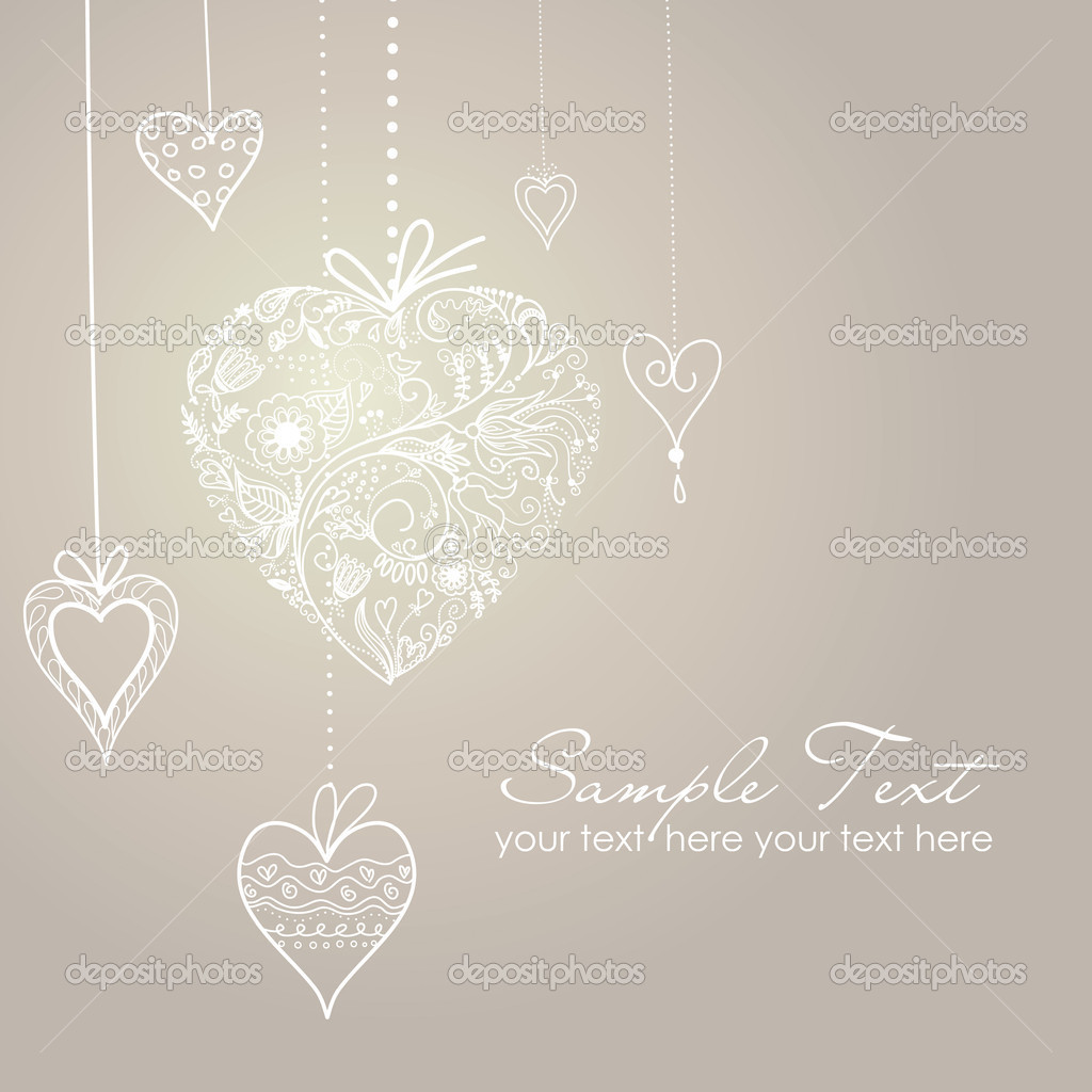 Cute background with decorated hearts — Stock Photo #7552727