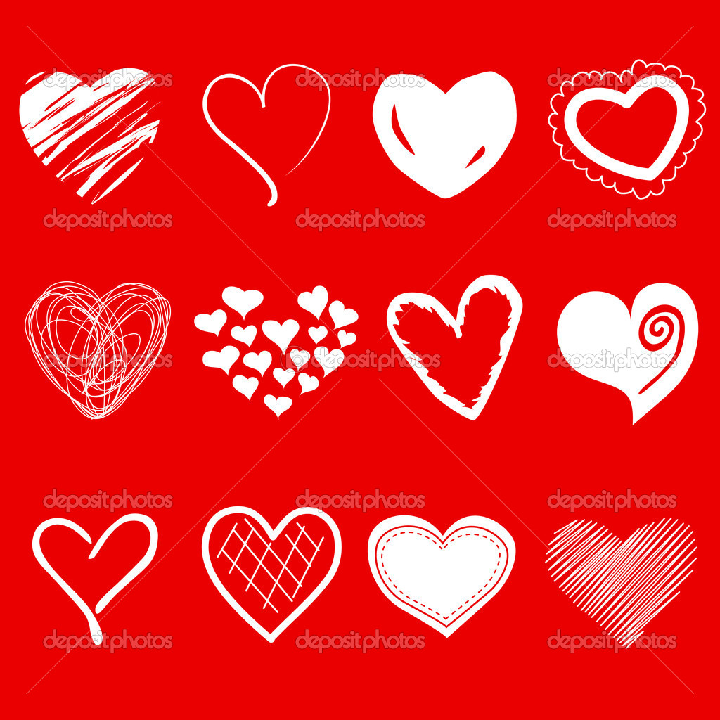 A set of heart shapes — Stock Photo #7552757
