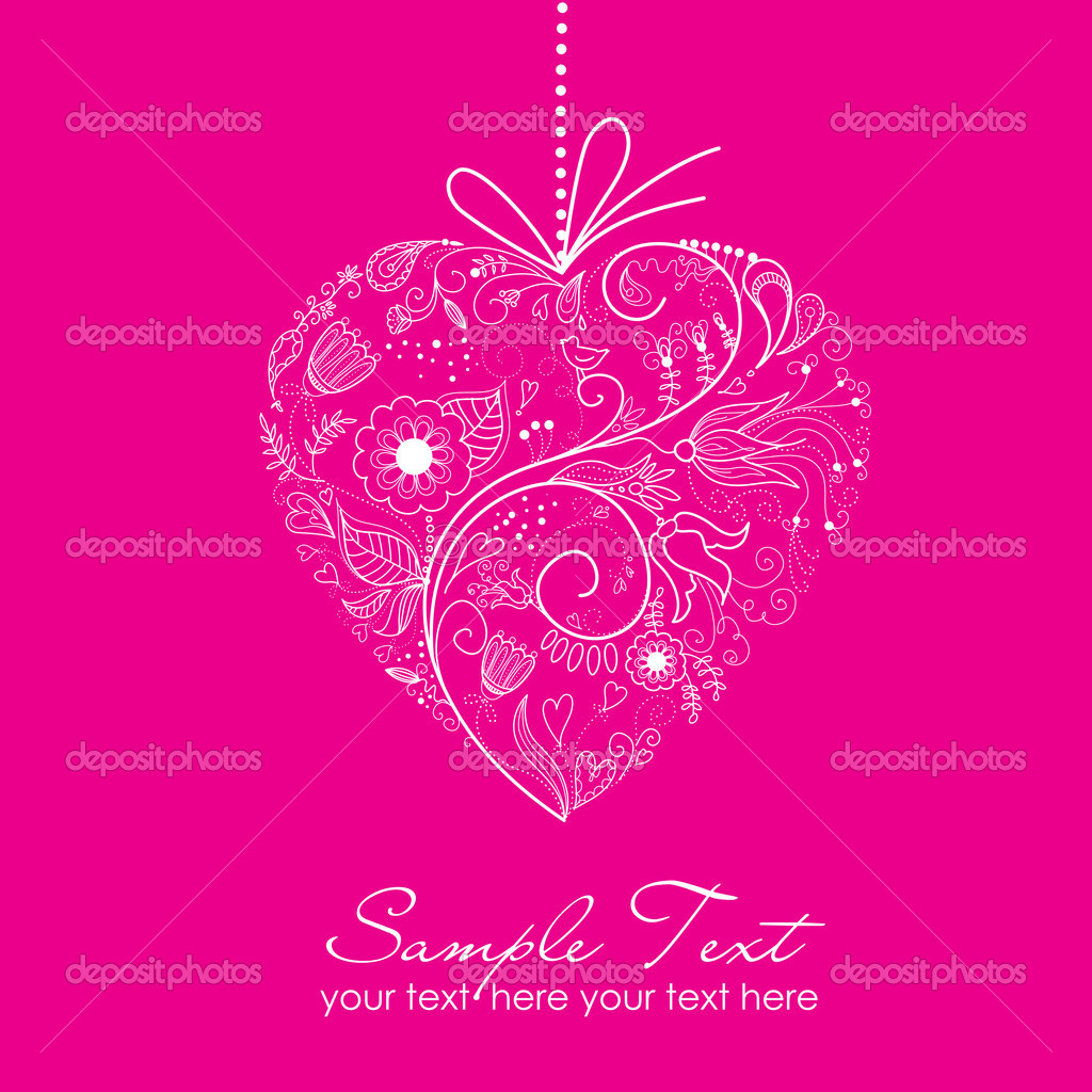 Valentine card — Stock Photo #7552821