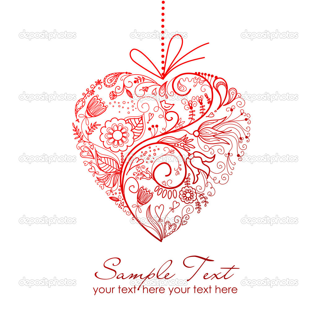 Stylized Red Heart — Stock Photo #7552823