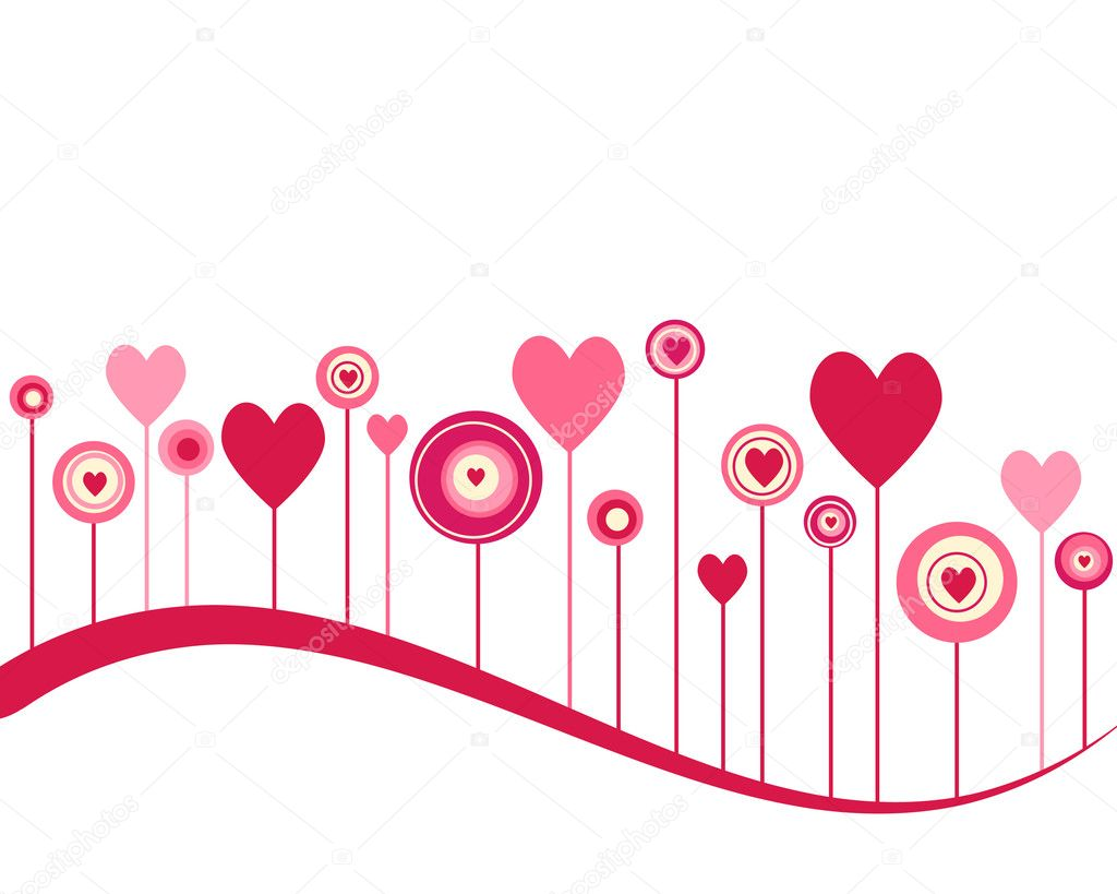 Cute vector valentine background — Stock Photo #7552828