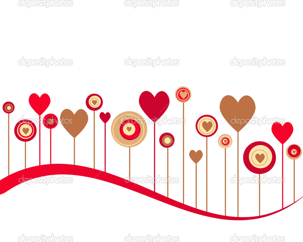Cute vector valentine background — Stock Photo #7552833