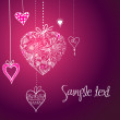 Stock Photo: Vector hearts background