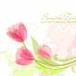 Floral background with tulips - Stock Photo