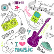 Music Vector Doodles — ストック写真