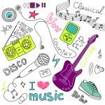 Music vetor doodles — Foto Stock