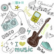 Music Vector Doodles - 图库照片