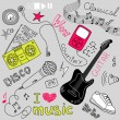 Music Vector Doodles - Foto de Stock