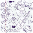 Music Vector Doodles — Stock Photo