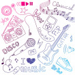 Music  Doodles - Stock Photo