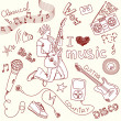 Music  Doodles - Foto Stock