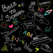 Foto Stock: Back to school doodles