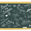 Vintage blackboard with scribbles — Stock Photo