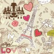 LOVE in Paris doodles — Stock Photo #7560338