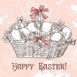 Vintage easter background — Stock Photo