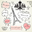 Stock Photo: Doodle frames in French style