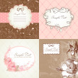 Set of cute floral frames - Stock Photo