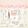 Boutique haute couture and Dressmaking - ストック写真