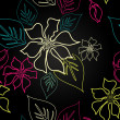 Seamless Aloha Pattern - Stockfoto