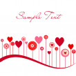 Cute vector valentine background — 图库照片
