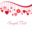 Stockfoto: Cute background with hearts