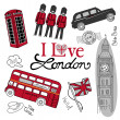 London doodles — Stockfoto