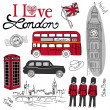 London doodles — Foto de Stock