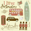 London doodles - Stock Photo