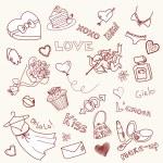 Valentine Doodles — Stock Photo