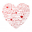 Say I love you in many languages - Stock Photo