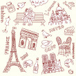 Love in paris doodles — Stock Photo #7560721