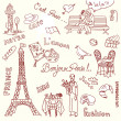 Paris doodles — Stock Photo #7560722