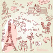 Paris doodles — Stock Photo