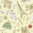 Sightseeing in paris doodles — 图库照片