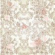 Vintage floral background — Stock Photo