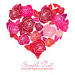 Stock Photo: Valentine rose heart