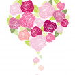 Floral heart shape — Stock Photo