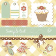Cute scrapbooking elements - Stock Photo