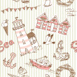 Stock Photo: Sea seamless pattern