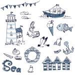 Sea doodles — Stock Photo