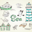 Summer Holidays Doodles — Stock Photo