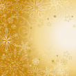 Golden christmas background — Stock Photo #7560934