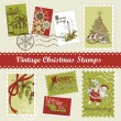 Vintage Christmas postage set — Stock Photo #7560999