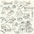 Travel doodles. — Stock Photo