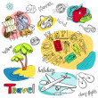 Summer Holidays Doodles! — Stock Photo