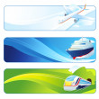 Travel banners - Stock Photo