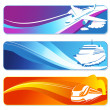 Travel banners - Foto Stock